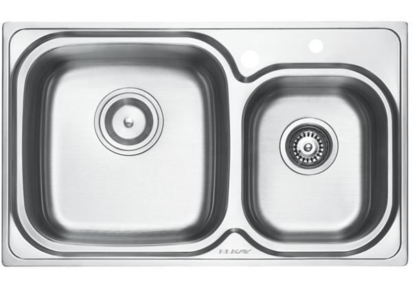 Image for Stainless Steel 798 x 485 x 211 Double Bowl Top Mount Kitchen Sink from Elkay Europe and Africa