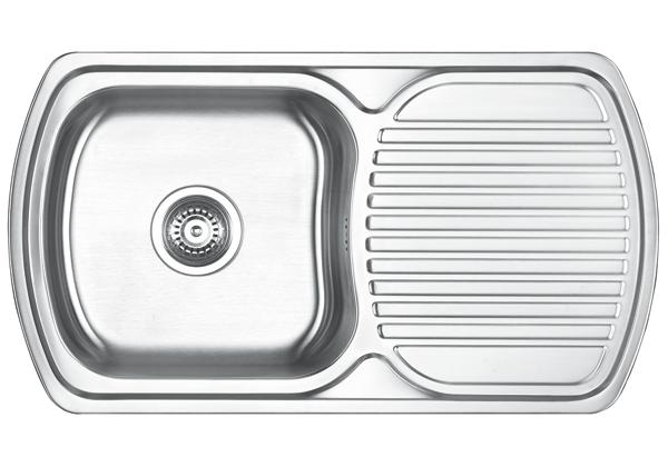 Image for Stainless Steel 805 x 450 x 185 Single Bowl With One Drainer Top Mount Kitchen Sink from Elkay Europe and Africa