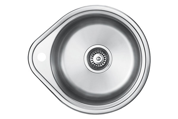 Stainless Steel 500 x 442 x 191 Single Bowl Top Mount Kitchen Sink