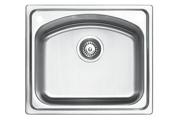 Stainless Steel 531 x 460 x 211 Single Bowl Top Mount Kitchen Sink