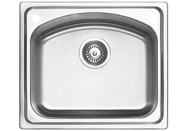 Image for Stainless Steel 531 x 460 x 211 Single Bowl Top Mount Kitchen Sink from Elkay Middle East