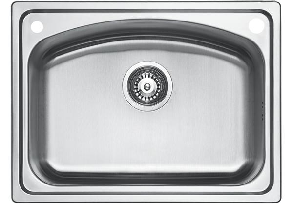 Image for Stainless Steel 612 x 460 x 221 Single Bowl Top Mount Kitchen Sink from Elkay Europe and Africa