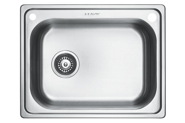 Stainless Steel 594 x 470 x 201 Single Bowl Undermount Kitchen Sink