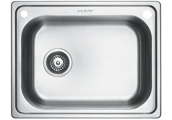 Image for Stainless Steel 594 x 470 x 201 Single Bowl Undermount Kitchen Sink from Elkay Middle East