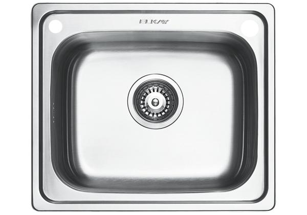 Image for Stainless Steel 500 x 429 x 201 Single Bowl Top Mount Kitchen Sink from Elkay Middle East