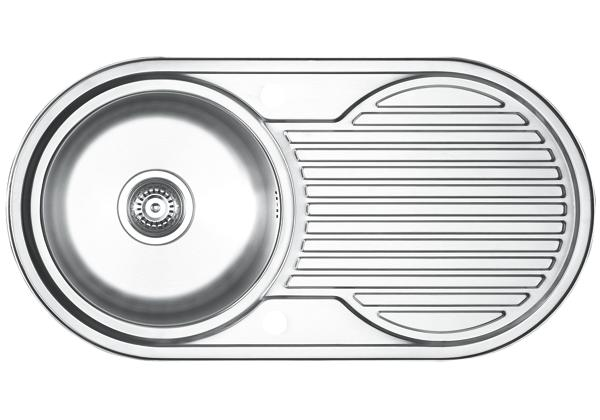 Image for Stainless Steel 904 x 475 x 196 Single Bowl With One Drainer Top Mount Kitchen Sink from Elkay Europe and Africa