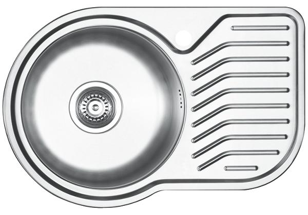 Image for Stainless Steel 681 x 450 x 193 Single Bowl With One Drainer Top Mount Kitchen Sink from Elkay Europe and Africa