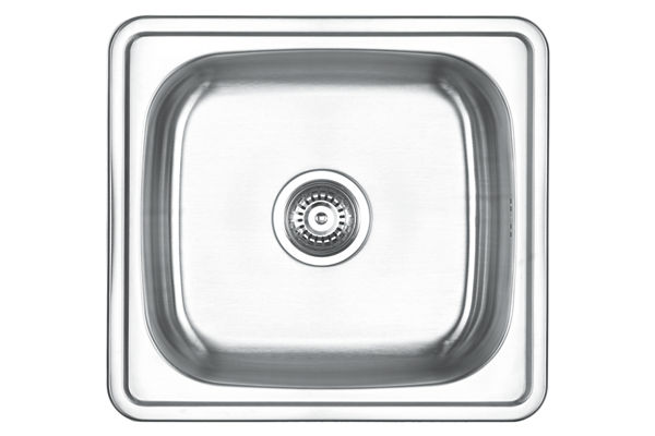 Stainless Steel 500 x 460 x 201 Single Bowl Top Mount Kitchen Sink
