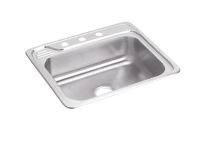 "Image for Elkay Celebrity Stainless Steel 25"" x 22"" x 7-9/16"", Single Bowl Top Mount Sink from ELKAY"