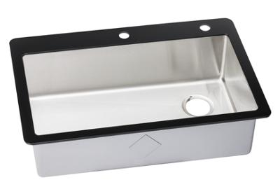 "Image for Elkay Crosstown Stainless Steel 33-1/8"" x 21-3/8"" x 9-5/16"", Single Bowl Top Mount Sink with Glass Rim from ELKAY"