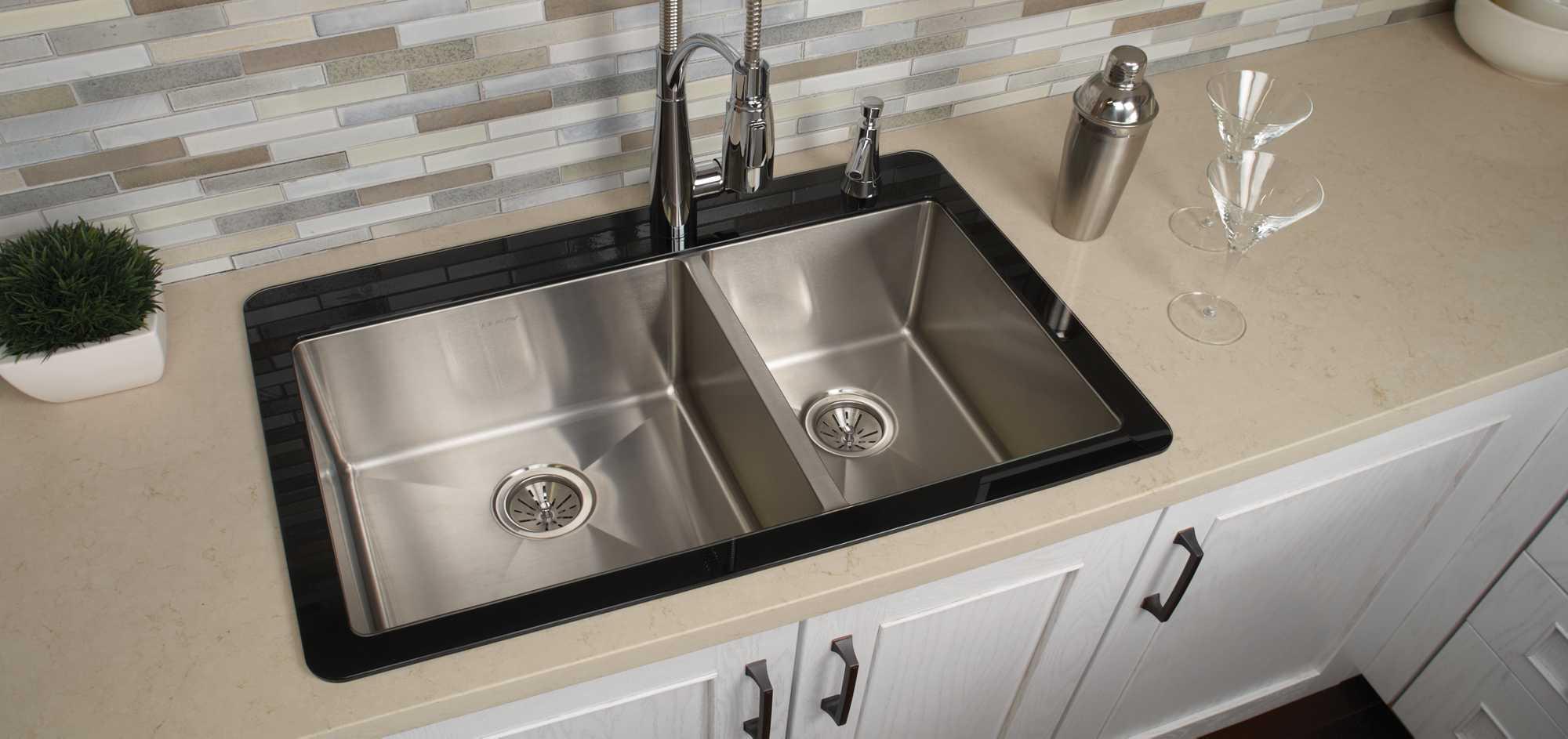 Crosstown Stainless Steel Kitchen Sinks | Elkay