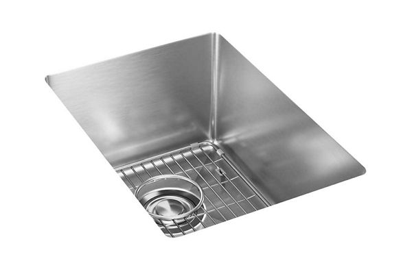 "Elkay Crosstown Stainless Steel 13-1/2"" x 18-1/2"" x 9"", Single Bowl Undermount Bar Sink Kit"