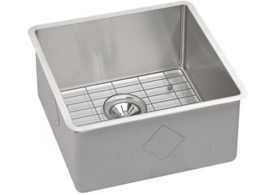 "Image for Elkay Crosstown Stainless Steel 18-1/2"" x 18-1/2"" x 9"" Single Bowl Undermount Sink Kit from ELKAY"