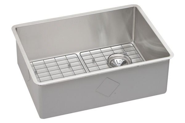 "Elkay Crosstown Stainless Steel 25-1/2"" x 18-1/2"" x 9"", Single Bowl Undermount Sink Kit"