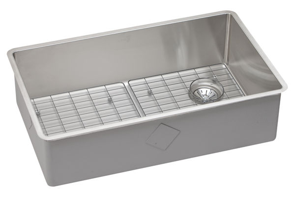"Elkay Crosstown Stainless Steel 31-1/2"" x 18-1/2"" x 9"", Single Bowl Undermount Sink Kit"