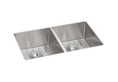 Image for Crosstown Stainless Steel Double Bowl Undermount Sink Kit from ELKAY