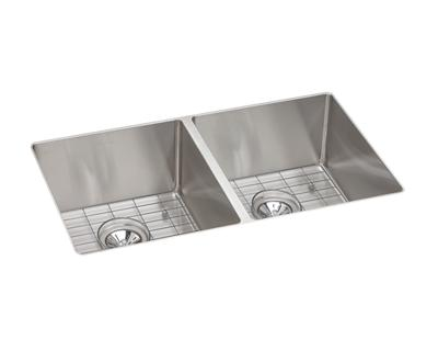 Image for Crosstown Stainless Steel Double Bowl Undermount Sink Kit from elkay-consumer