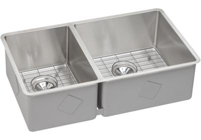 "Image for Elkay Crosstown Stainless Steel 31-1/2"" x 18-1/2"" x 9"", Double Bowl Undermount Sink Kit from ELKAY"