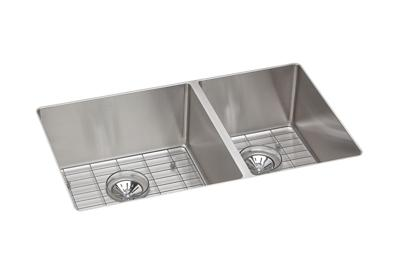 Image for Crosstown™ Stainless Steel Double Bowl Undermount Sink Kit from elkay-consumer