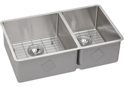 "Image for Elkay Crosstown Stainless Steel 31-1/2"" x 18-1/2"" x 9"", 60/40 Double Bowl Undermount Sink Kit from ELKAY"