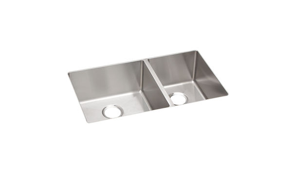 Crosstown Stainless Steel Double Bowl Undermount Sink