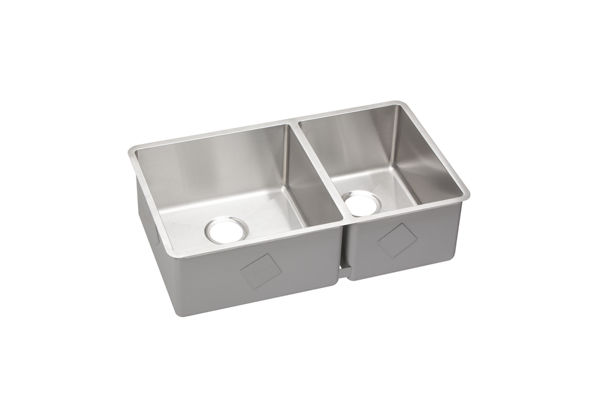 "Elkay Crosstown Stainless Steel 31-1/2"" x 18-1/2"" x 9"", 60/40 Double Bowl Undermount Sink"