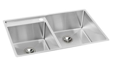 "Image for Elkay Crosstown Stainless Steel 32-1/2"" x 20-1/2"" x 9"", Offset Double Bowl Undermount Sink Kit with Water Deck from ELKAY"
