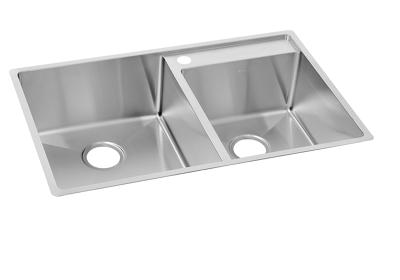 "Image for Elkay Crosstown Stainless Steel 32-1/2"" x 20-1/2"" x 9"", Offset Double Bowl Undermount Sink with Water Deck from ELKAY"