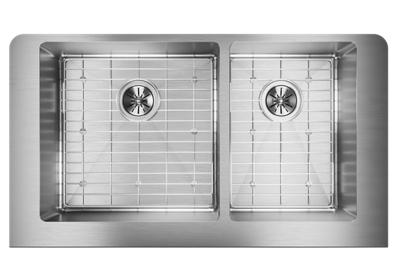 "Image for Elkay Crosstown Stainless Steel 35-7/8"" x 20-1/4"" x 9"", 60/40 Double Bowl Farmhouse Sink Kit from ELKAY"