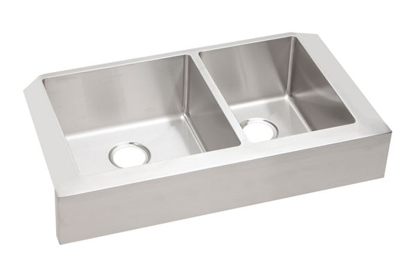 "Elkay Crosstown Stainless Steel 35-7/8"" x 20-1/4"" x 9"", 60/40 Double Bowl Farmhouse Sink"