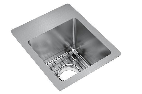 "Elkay Crosstown Stainless Steel 13"" x 16"" x 9"", Single Bowl Dual Mount Sink Kit"