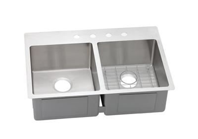 "Image for Elkay Crosstown Stainless Steel 33"" x 22"" x 9"", Equal Double Bowl Dual Mount Sink Kit from ELKAY"