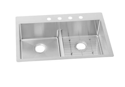 "Image for Elkay Crosstown Stainless Steel 33"" x 22"" x 9"", Equal Double Bowl Dual Mount Sink Kit with Aqua Divide from ELKAY"
