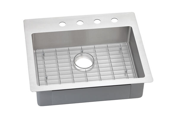 "Elkay Crosstown Stainless Steel 25"" x 22"" x 6"", Single Bowl Dual Mount Sink Kit"