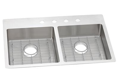 "Image for Elkay Crosstown Stainless Steel 33"" x 22"" x 6"", Equal Double Bowl Dual Mount Sink Kit from ELKAY"