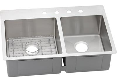"Image for Elkay Crosstown Stainless Steel 33"" x 22"" x 9"", 60/40 Double Bowl Dual Mount Sink Kit from ELKAY"