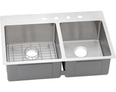 Image for Crosstown Stainless Steel Double Bowl Dual Mount Sink Kit from elkay-consumer