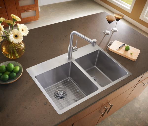 Types of kitchen sink simple double basin copper for Kitchen sinks types