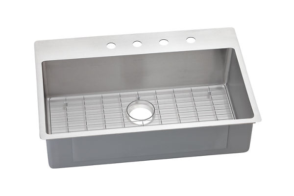 Crosstown™ Stainless Steel Single Bowl Dual Mount Sink Kit