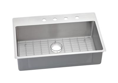 "Image for Elkay Crosstown Stainless Steel 33"" x 22"" x 9"" Single Bowl Dual Mount Sink Kit from ELKAY"