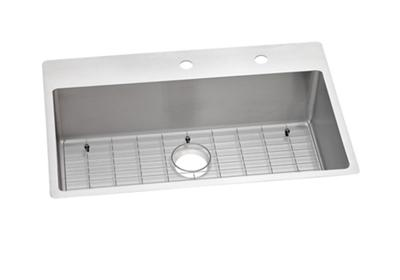 "Image for Elkay Crosstown Stainless Steel 33"" x 22"" x 9"", Single Bowl Dual Mount Sink Kit from ELKAY"