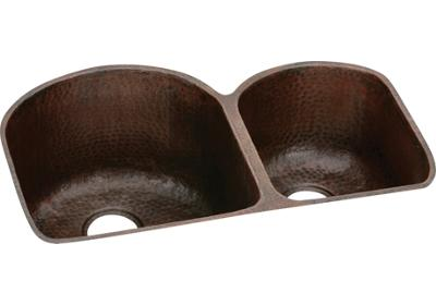 "Image for Elkay Copper 31-1/4"" x 20"" x 10"", Offset 60/40 Double Bowl Undermount Sink from ELKAY"