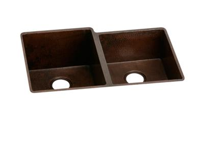 "Image for Elkay Copper 31-1/4"" x 20-1/2"" x 10"", Offset Double Bowl Undermount Sink from ELKAY"