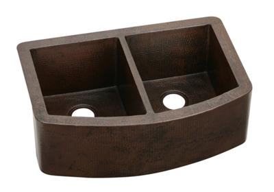 "Image for Elkay Copper 33"" x 22"" x 10-1/2"", Equal Double Bowl Apron Front Sink from ELKAY"