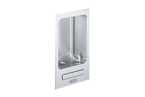 Elkay Wall Mount Fully Recessed Fountain Non-Filtered, Non-Refrigerated Stainless