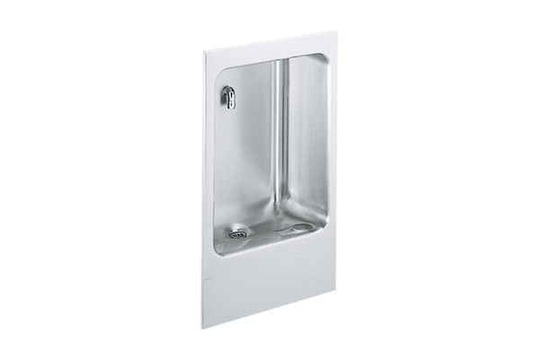 Elkay Wall Mount Fully Recessed Cuspidor Non-Filtered, Non-Refrigerated Stainless