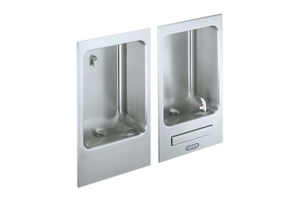 Elkay Wall Mount Fully Recessed Fountain wth Cuspidor, Non-Filtered Non-Refrigerated Stainless