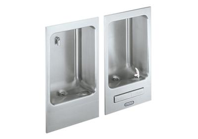 Image for Elkay Wall Mount Fully Recessed Fountain wth Cuspidor, Non-Filtered Non-Refrigerated Stainless from ELKAY