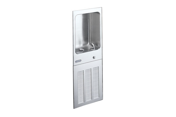 Elkay Cooler Wall Mount Fully Recessed Non-Filtered 12 GPH, Stainless 220V WRAS