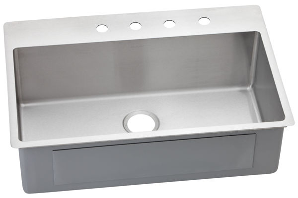 Avado Stainless Steel Single Bowl Dual / Universal Mount Sink